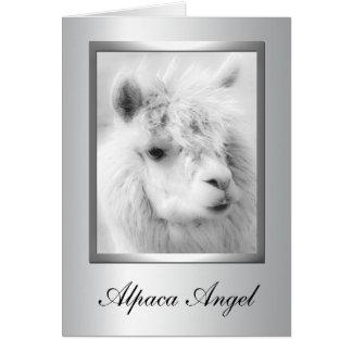 Tarjetas de felicitación de la alpaca