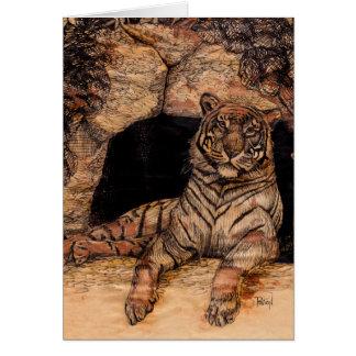 Tarjetas de felicitación de la guarida del tigre