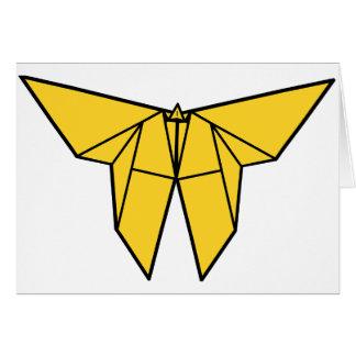 Tarjetas de felicitación de la mariposa de Origami