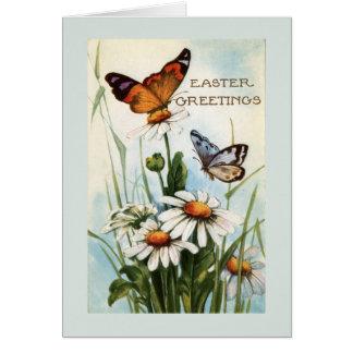 Tarjetas de felicitación de la mariposa de Pascua