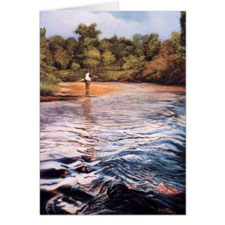 Tarjetas de felicitación de la pintura del río