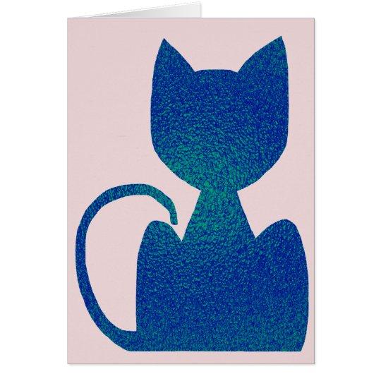 Tarjetas de felicitación de la silueta del gato de
