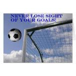 Tarjetas de felicitación de las metas del fútbol