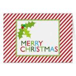 Tarjetas de felicitación de las rayas del navidad