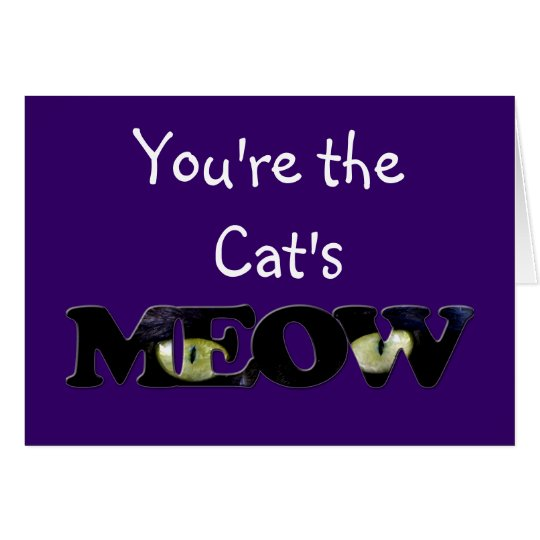 Tarjetas de felicitación de los ojos de gato negro