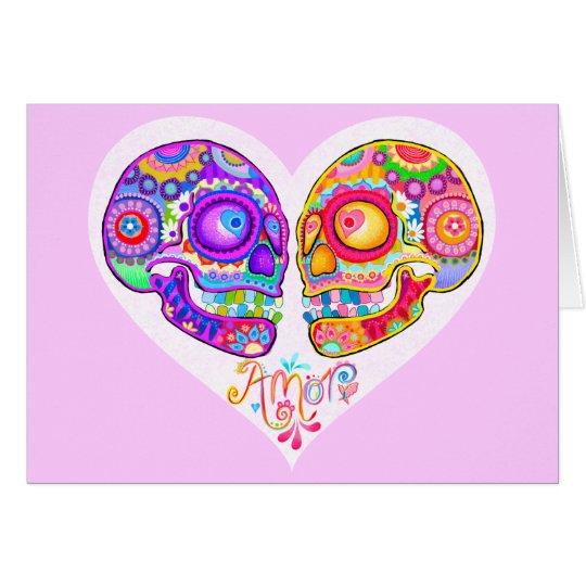 Tarjetas de felicitación de los pares del cráneo