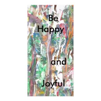 Tarjetas de felicitación de motivación, regalo. tarjeta fotografica personalizada