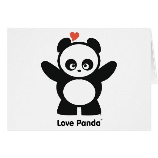 Tarjetas de felicitación de Panda® del amor
