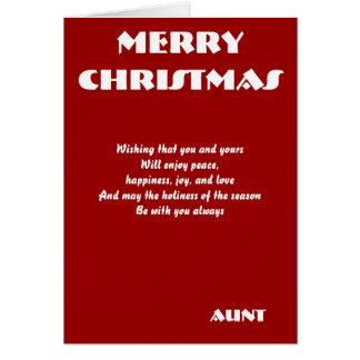 Tarjetas de felicitación de tía Christmas