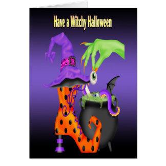 Tarjetas de felicitación de Witchy Halloween