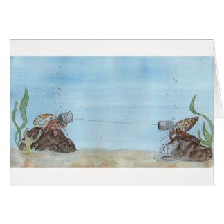 Tarjetas de felicitación del cangrejo de ermitaño