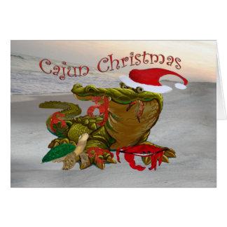 Tarjetas de felicitación del cocodrilo de Santa