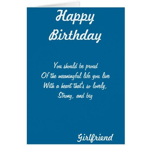 Tarjetas de felicitación del cumpleaños de la novi