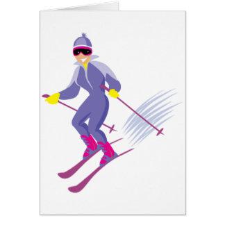 Tarjetas de felicitación del esquí