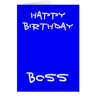 Tarjetas de felicitación del jefe del feliz cumple
