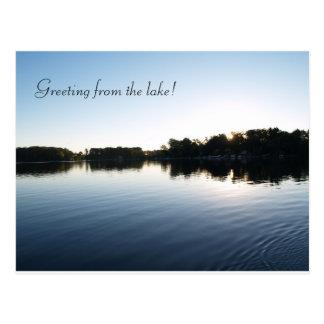 Tarjetas de felicitación del lago postal