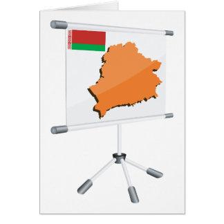 Tarjetas de felicitación del mapa de Bielorrusia