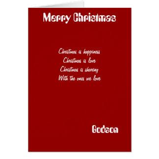 tarjetas de felicitación del navidad del ahijado