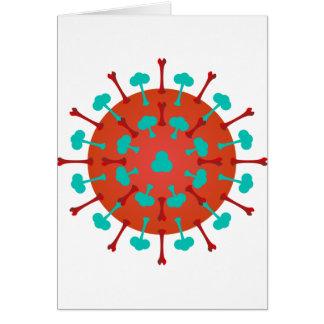 Tarjetas de felicitación del virus de la gripe