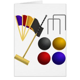Tarjetas de felicitación determinadas del croquet