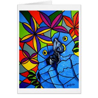 "Tarjetas de felicitación ""Macaws"" - Cartão ""Arara"