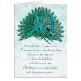 tarjetas de felicitación numeradas vigésimo cumple