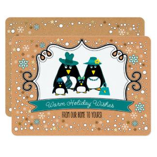 Tarjetas de felicitación planas del pingüino del invitación 12,7 x 17,8 cm