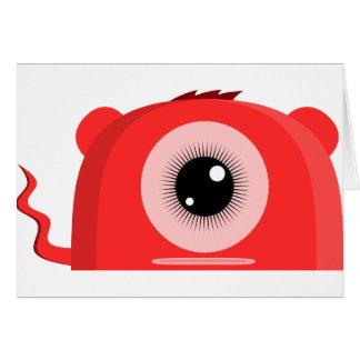 Tarjetas de felicitación rojas de Oso