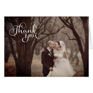 Tarjetas de felicitación simples del boda de la