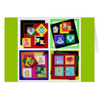 Tarjetas de felicitación vivas del arte de Origami