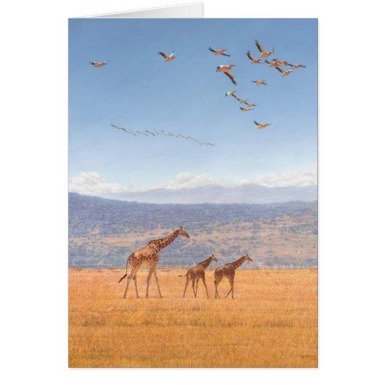 Tarjetas de felicitaciones del arte de la fauna de