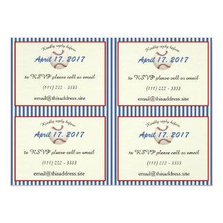Tarjetas de información del béisbol DIY Invitación 13,9 X 19,0 Cm