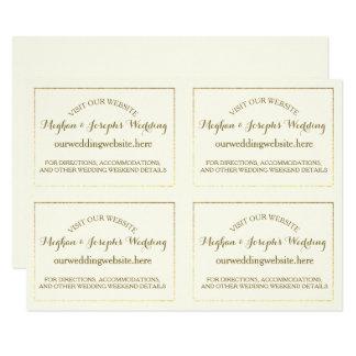 Tarjetas de información del boda de la marfil y invitación 13,9 x 19,0 cm