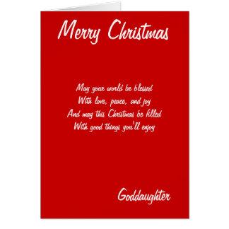 Tarjetas de la ahijada de las Felices Navidad