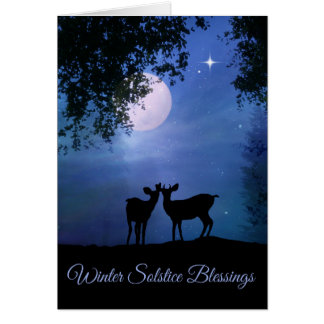 Tarjetas de la bendición del solsticio de invierno