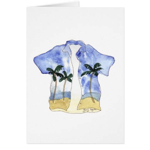 Tarjetas de la camisa hawaiana
