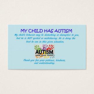 Tarjetas de la conciencia del autismo