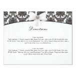 Tarjetas de la dirección del boda de la elegancia invitacion personalizada