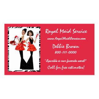 Tarjetas de la empresa de servicios de la criada tarjetas de visita