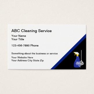 Tarjetas de la empresa de servicios de la limpieza