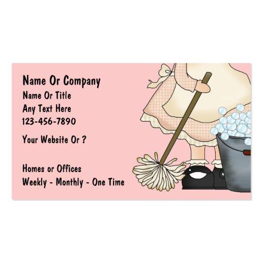 Tarjetas de la empresa de servicios de la limpieza plantillas de tarjeta de negocio