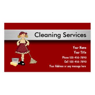 Tarjetas de la empresa de servicios de la limpieza tarjeta de visita