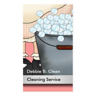 Tarjetas de la empresa de servicios de la limpieza plantilla de tarjeta de visita