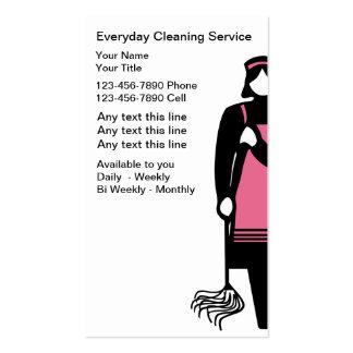 Tarjetas de la empresa de servicios de la limpieza tarjetas de visita