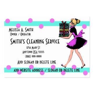 Tarjetas de la empresa de servicios de la limpieza tarjetas de visita grandes
