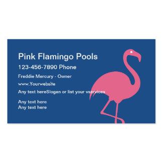 Tarjetas de la empresa de servicios de la piscina tarjetas de visita