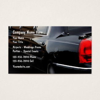 Tarjetas de la empresa de servicios del coche de