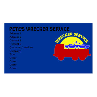 Tarjetas de la empresa de servicios del remolque d tarjetas de visita