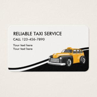 Tarjetas de la empresa de servicios del taxi