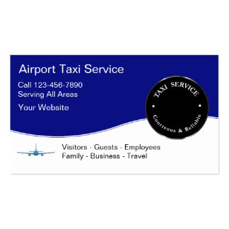 Tarjetas de la empresa de servicios del taxi del a tarjetas de visita